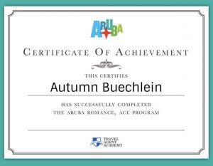 Autumn Buechlein Aruba Certification