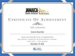 Autumn Buechlein Jamaica Certification