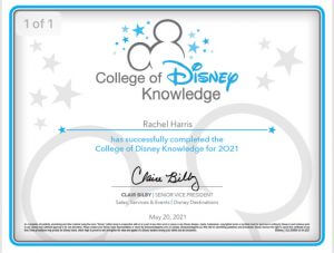 Rachel Harris College of Disney Knowledge Certificate